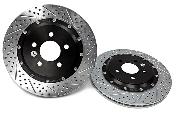 "2015+ Ford Mustang Baer Eradispeed+ 15"" 2 Piece Rotors - Front"