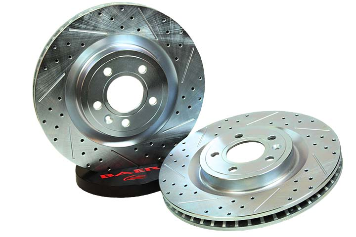 2015+ Ford Mustang Baer Drilled & Slotted Sport Rotors - Rear